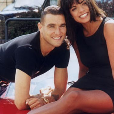 Vinnie Jones & Jenny Powell 1999 for Granada Men & Motors